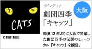 1階S1席で観賞 劇団四季「キャッツ」